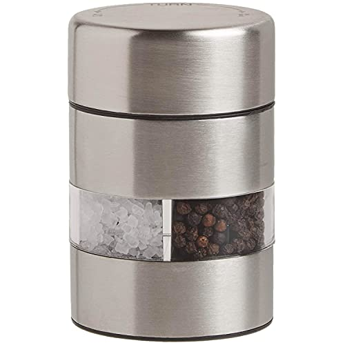 Olde Thompson Since 1944 Olde Thompson 4' Stainless Steel Pepper Salt Mill 2-in-1 Combo-5080-00, 4-inch, Silver