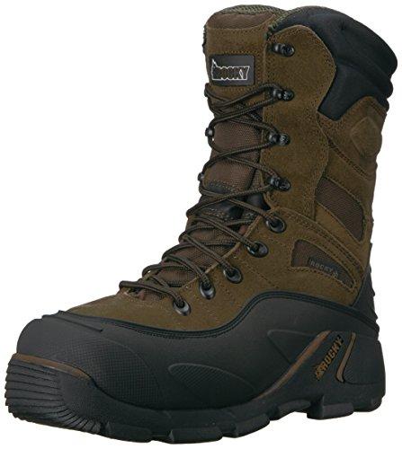 Rocky BlizzardStalker Steel Toe Waterproof 1200G Insulated Work Boot Size 13(Men) Brown