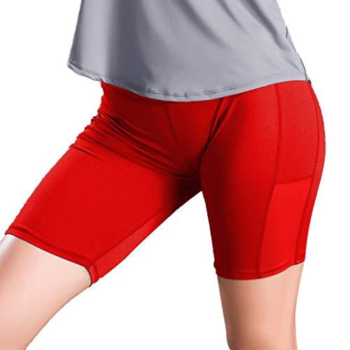 Sport Leggings Sporthose Sportsleggins Laufhose Für Fitness Gym Yoga Heligen Women's Side Pocket Stitching Fixed Stretch Tight Fitness Running Yoga Pants