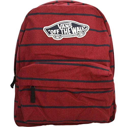 Vans Realm Backpack Mochila Tipo Casual, 42 cm, 22 Liters, Rojo (Tibetan Red Stripe)