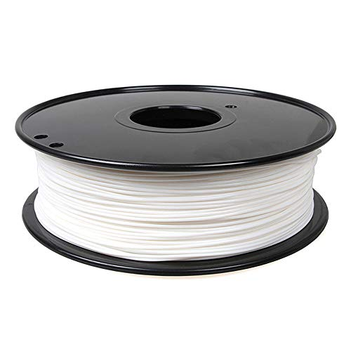 Filamento stampante 3D 1,75 mm, filamento Pom 1 kg, con rigidità, flessibilità, buona compressione e prestazioni di trazione-bianca