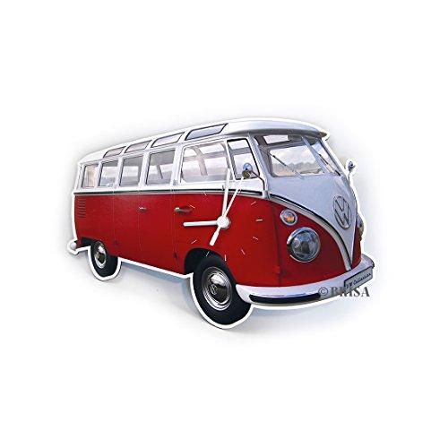 BRISA VW Collection - Retro-Vintage Volkswagen Nostalgie Wand-Uhr im VW T1 Bulli Bus Design