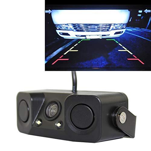 QICHENGBIN Rückfahrkamera-Kit PZ-451 Auto-Kamera-LED-Leuchten-Parken-Sensor 3 in 1 Nachtsicht-Kamera-Monitor mit Summer, DC 12V, 720 x 504 Pixel, Objektiv-Winkel: 120 Grad