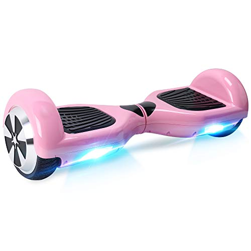 BEBK Windgoo Hoverboard 6.5 Inch Self Balancing Electric Scooter with LED Light, UL2272 Safety Certified for Adults and Kids (Pink)