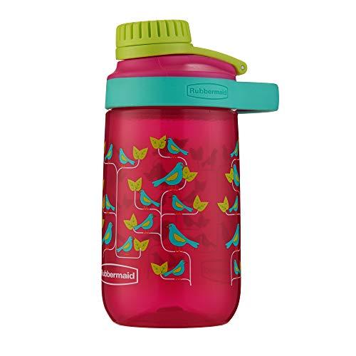 Squeeze Infantil com tampa de rosca à Prova De Vazamento, Rubbermaid, Rosa, 414ML