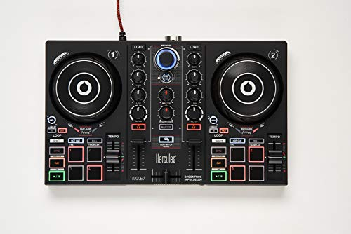 Hercules DJControl Inpulse 200 – DJ controller with USB - 2 tracks with 8 pads...