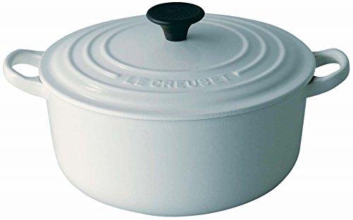 ルクルーゼ ココット ロンド ホーロー 鍋 IH 対応 18cm ホワイト 2501-18-01