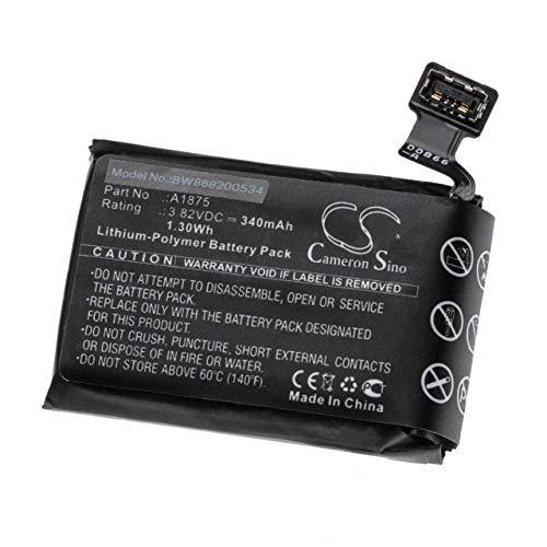 vhbw Batterie Compatible avec Apple Watch A1861, Series 3 42mm, Series 3 GPS 42mm smartwatch Montre Bracelet Fitness (340mAh, 3.82V, Li-Polymère)