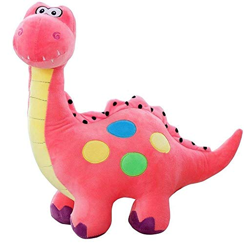 Stuffed Pink Dinosaur with Polka Dots