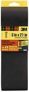 3M 99264NA Sanding Belt Fine 120-Grit, 3 by 21-Inch, 5-Pack