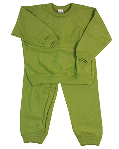 Cosilana Pijama infantil de 2 piezas, de lana de rizo 100% l