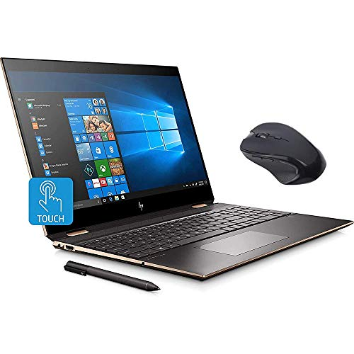 HP Spectre x360 2-in-1 Touchscreen Laptop, 4K UHD 15.6', Core i7-10510U, GeForce MX330 2GB Graphics, 16GB RAM, Backlit, Thunderbolt 3, 1TB NVMe PCIe SSD, Mytrix Wireless Mouse, Win 10 (Renewed)