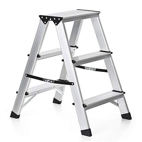 Klaptrap, draagbare aluminium klep, 3 trapladder, trapladder, antislip, uitklapbare ladder, verlenging voor thuis, outdoor-ladder