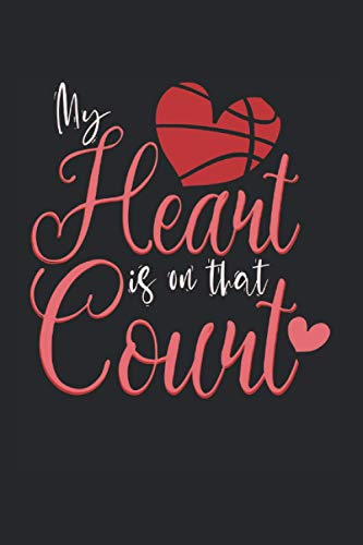 basketball: Heart notebook ball gift with 120 pages