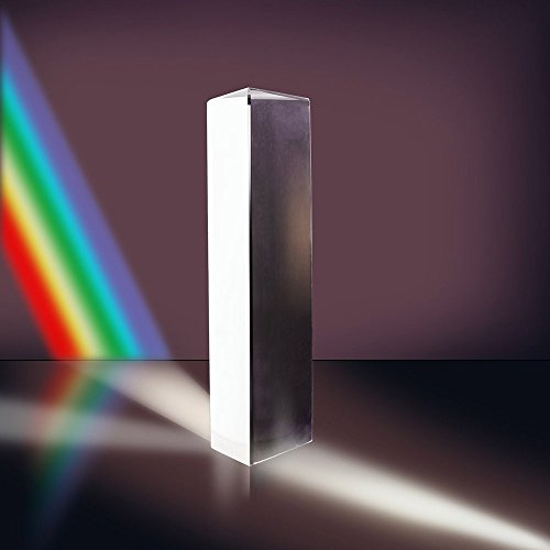 CODIRATO Light Prism Crystal Optical Glass Prism 15cm K9 Triangular Prism for Physics Teaching Light Spectrum Sunlight Reflect Light Prism with Optical Prism Box