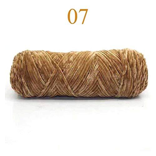 ErNahdasA Hilo de Tejer 100g Chenilla Terciopelo Tejido artesanía madejas Tejer Hilo de Ganchillo Suéter de Hilo Suéter Mano cálida para Crochet y Knitting DIY (Color : No. 07)