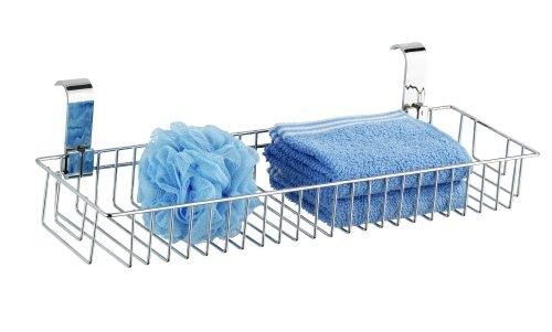 WENKO 20647100 Universalablage Smart XL - für Handtuchheizkörper, Stahl, 50 x 13 x 20 cm, Chrom