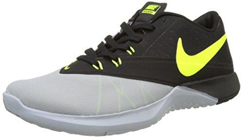 Nike Herren FS LITE Trainer 4 Trainingsschuh Laufschuhe, Schwarz (Wolfgrau/Schwarz/Pure Platinum/Volt), 42 EU