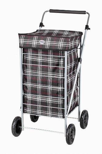 Hoppa 4 Wheel 22' 63L Shopper Shopping Trolley Cart (Black)