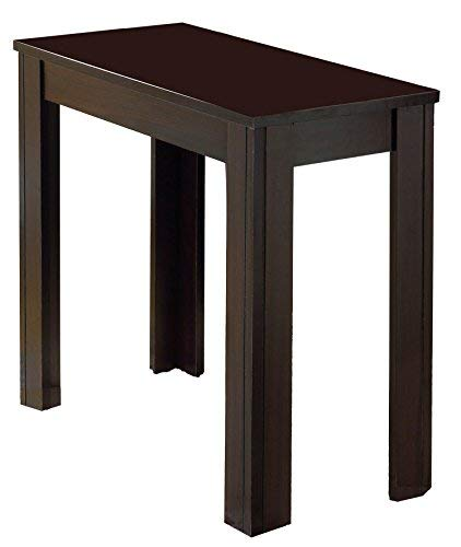 Monarch Specialties Side Table, LAMINATE, MDF, Cappuccino Finish, FURNITURE