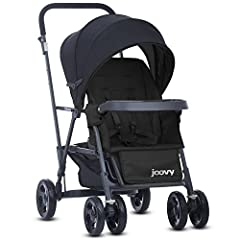 Most compact and maneuverable double stroller available allows your older child to sit and stand on the rear platform or bench seat , Care- Spot clean or seats can be submerged in water for deeper cleaning 2 year warranty is 4 times longer than the B...