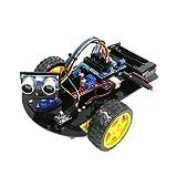 Kit De Coche Robot, Arduino Ultrasónico R3 Coche Inteligente para Uno, Kits De Montaje De Coche RC Inteligente con Pantalla LCD, Experimentos Científicos Hechos A Mano Juguetes Educativos