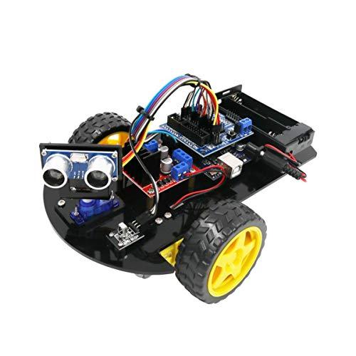 HARTI Roboter-Auto-Kit, Arduino Ultraschall R3 Smart Auto Für UNO, Intelligente RC-Auto-Baugruppen-Kits Mit LCD-Bildschirm, Handgefertigte Wissenschaftliche Experimente Bildung Spielzeug