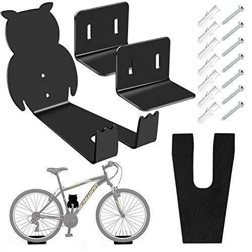 Sanggi Soporte de Pared Para Bicicleta, 3 En 1 MTB Gancho de