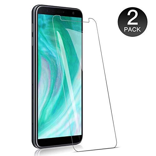 WieStoung Verre Trempé pour Samsung Galaxy J4 Plus / J6 Plus - Pack de 2 - Vitre Ecran Film Verre pour J4 + J6 + Dureté 9H, sans Bulles, Couvir l'écran Complèt HD, Verre trempé de Haute qualité