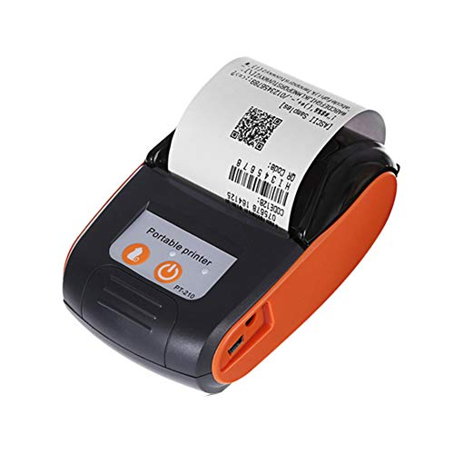 USB Thermal Receipt Printer, Bluetooth Mobile Thermal Receipt Machine, Wireless Shipping Label Ticket Printer, 58mm Mini Portable, with High Speed Printing