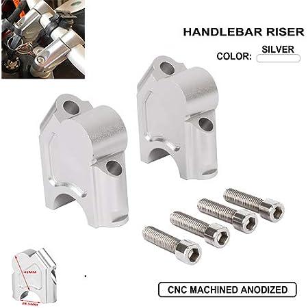 Yctze Riser manubrio 22mm Universale moto manubrio riser manubrio morsetto indietro spostare attacco adattatore CNC in lega di alluminio ad alta densit/à Cromo