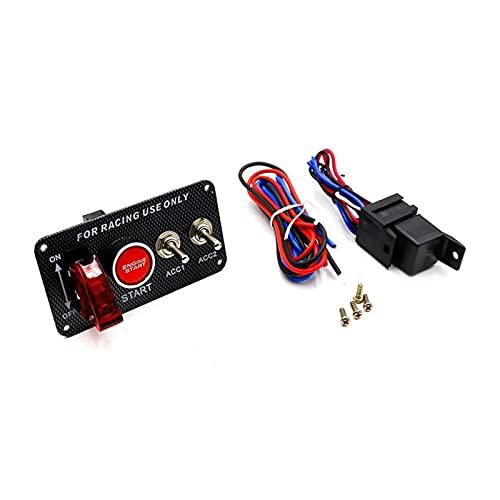 Huajin Accesorios para automóviles 12V LED Interruptor de conmutación Circuito de interruptores Botón de Inicio Botón Push Botón Ajuste Conjunto para 12 V-Power Speed y Carring Car