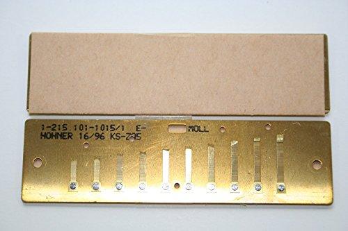 Hohner MS Stimmplatten Satz 0,9mm E-Moll Messing inkl. Schraubensatz