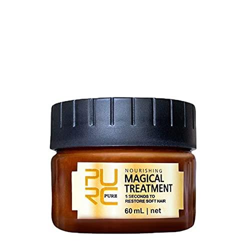 Mascarilla mágica de reproductores 5 segundos repara el cabello rizado haz el cabello suave reparación profunda tratamiento de queratina para el cuidado del cabello de 60ml