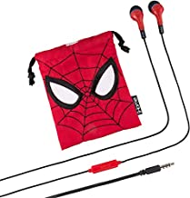 Marvel Avengers Noise Isolating Earbuds with Built in Microphone and Travel Pouch (Spiderman)