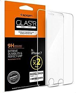 ايفون 7 لاصق حماية زجاجي ماركة سبيجن متوافق مع تقنية ثري دي (عدد 2)