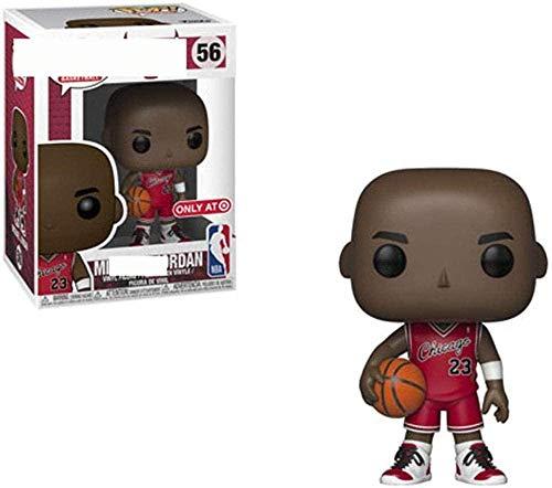 ZSBoBo Pop Sports NBA - Michael Jordan (Red Jersey) 3 9 Figuras de Vinilo-B