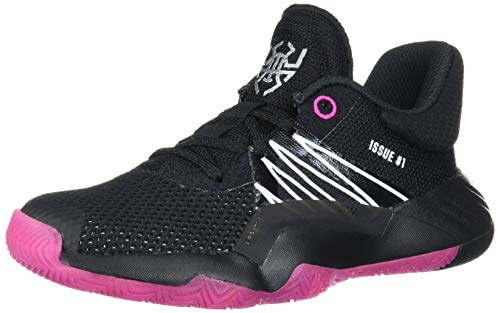 adidas Girl's D.O.N. Issue #1 Basketball Shoe, Black/Shock Pink/White, 11.5 Medium US Little Kid