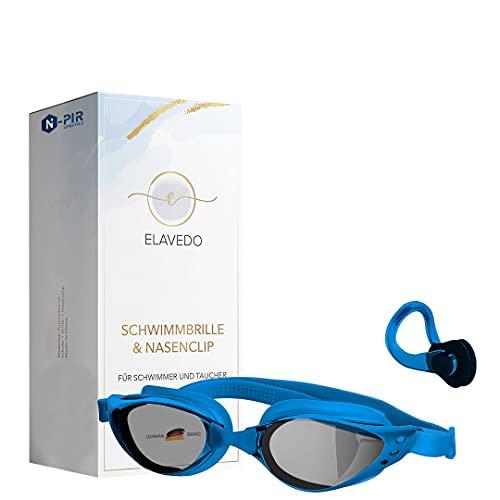 N-PIR Gafas de natación de marca alemana I Premium con clip para la nariz 3.0, marca alemana como juego de deporte y ocio, gafas antivaho para una experiencia clara bajo el agua