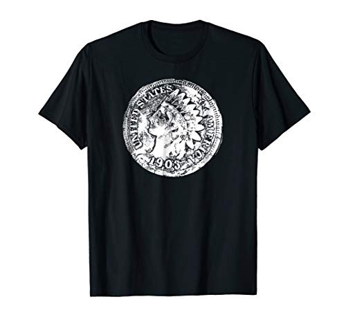 Indian Head Penny shirt, ideal gift for metal detectorists