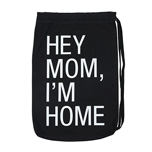 About Face Designs Hey Mom, I'm Home Laundry Bag, One Size, Black