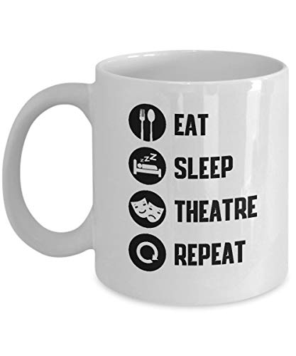 Taza de té de cerámica Taza de bebida de café musical Broadway Teatro amante de viaje portátil enjuague bucal Tazas reutilizables taza de té de agua 11 oz