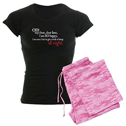 CafePress Jane Austen Sleep A Wink Women's Dark Pajamas Womens Novelty Cotton Pajama Set, Comfortable PJ Sleepwear