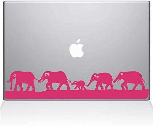 The Decal Guru 0152 MAC 11A BG Elephant March Vinyl Sticker 11 MacBook Air Pink product image