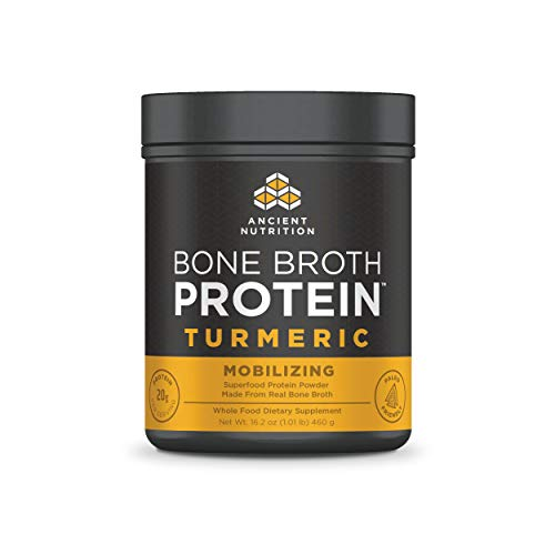 Ancient Nutrition Bone Broth Protein Powder, Turmeric Flavor, 20 Servings
