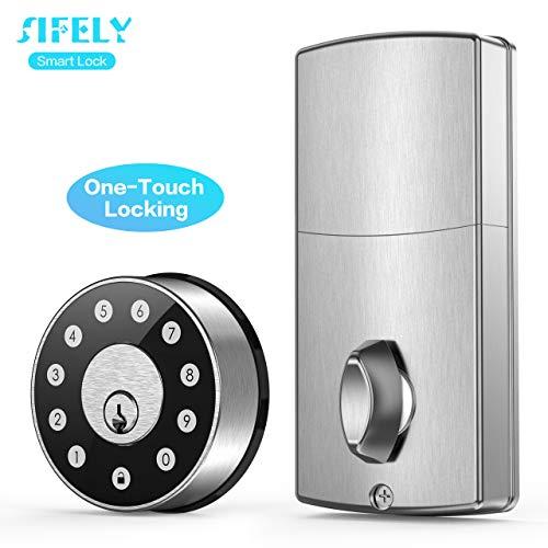 Sifely Smart Door Lock, Smart Lock, Smart Deadbolt, Keyless Entry Door Lock, Digital Door Lock, Keypad Door Lock, Keypad Deadbolt, Keyless Door Lock, Electronic Lock, WiFi Door Lock, Front Door Lock