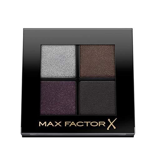Max Factor Colour X-Pert Soft Touch Palette, 4 Ombretti dal Colore Intenso, Altamente Sfumabili, 005 Misty Onyx