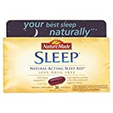 Nature Made Sleep - Natural Sleep Aid - 2 Boxes, 30 Softgels Each