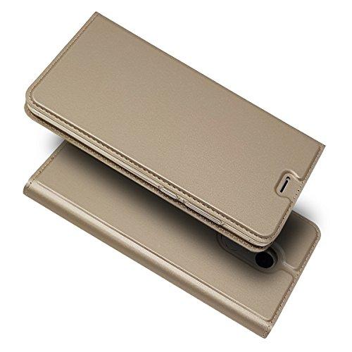 Zouzt Funda Compatible con xiaomi Redmi Note 4X; Estuche de Cuero de PU Ultra Delgado con Cierre magnético/función de Soporte/Ranura para portatarjetas para xiaomi Redmi Note 4X,Dorado