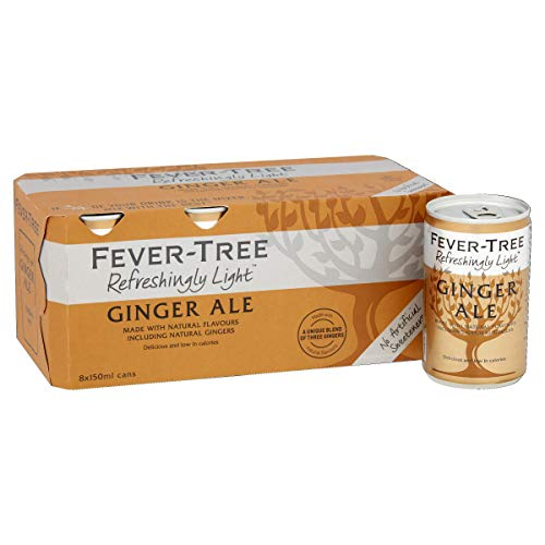 Fever-Tree Refreshingly Light Ginger Ale, 8 x 150ml